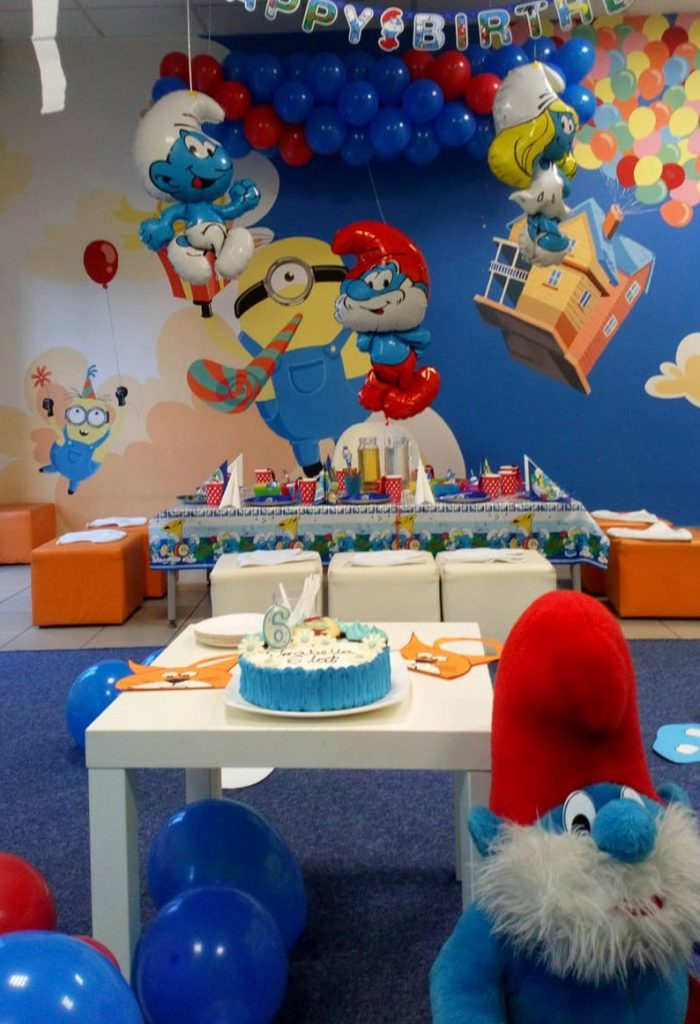 urodzinki smerfy sala zabaw